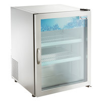 Avantco CRM-5-HC Stainless Steel Countertop Display Refrigerator with Swing Door - 3.9 Cu. Ft.
