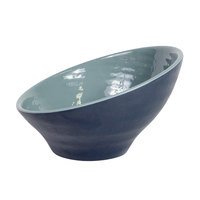 Elite Global Solutions D105RR-ABY/LAP Durango 1.56 Qt. Abyss and Lapis Angled Two-Toned Melamine Bowl - 6/Case