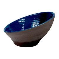 Elite Global Solutions D95RR-LAP/CH Durango 1.16 Qt. Lapis & Chocolate Angled Melamine Bowl - 6/Case