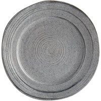 Elite Global Solutions D101ST Della Terra Melamine Stoneware 10 inch Granite Irregular Round Plate - 6/Case