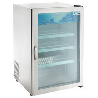 Avantco CRM-7-HC Stainless Steel Countertop Display Refrigerator with Swing Door - 4.1 Cu. Ft.
