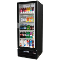 Beverage-Air LV12HC-1-B-18 LumaVue 24 inch Black Refrigerated Left Hinged Glass Door Merchandiser with LED Lighting