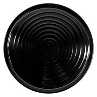 Elite Global Solutions M17RG-B Galaxy 17 inch Black Swirl Round Melamine Plate - 6/Case