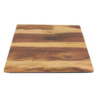 Elite Global Solutions M10-HW 10 inch x 10 inch Fo Bwa Faux Hickory Wood Melamine Serving Board