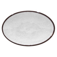 Elite Global Solutions D8512OVM Mojave Vintage California 12 1/2 inch x 8 1/2 inch White Oval Crackle Melamine Plate - 6/Case