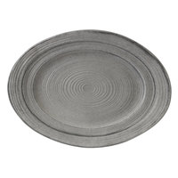 Elite Global Solutions M1318OVST-GSD Della Terra Melamine Stoneware 18 inch x1 3 inch Granite Stone Design Irregular Oval Serving Dish