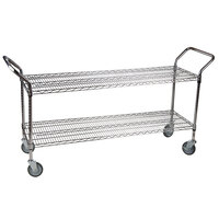 Regency 18 inch x 60 inch Two Shelf Chrome Heavy Duty Utility Cart