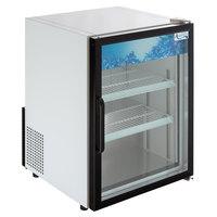 Avantco CRM-5-HC White Countertop Display Refrigerator with Swing Door - 3.9 Cu. Ft.