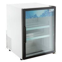 Avantco CRM-5-HC White Countertop Display Refrigerator with Swing Door - 3.9 Cu. Ft.