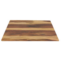 Elite Global Solutions M2415-HW Fo Bwa 24 inch x 15 inch x 5/8 inch Faux Hickory Wood Melamine Serving Board