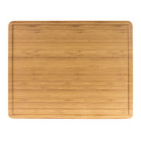 Elite Global Solutions M1215RCFP-BB Fo Bwa 15 inch x 12 inch x 1/2 inch Faux Bamboo Melamine Serving Board