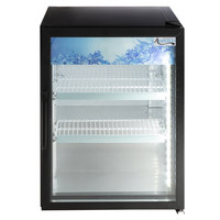 Avantco CRM-5-HC Black Countertop Display Refrigerator with Swing Door - 3.9 Cu. Ft.