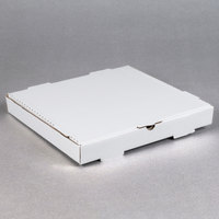 14 inch x 14 inch x 1 3/4 inch White Corrugated Plain Pizza / Bakery Box - 50/Bundle