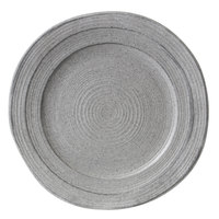 Elite Global Solutions D1134ST Della Terra Melamine Stoneware 11 3/4 inch Granite Irregular Round Plate - 6/Case