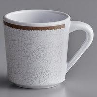 Elite Global Solutions DC14-W-M Mojave Vintage California 14 oz. White Crackle Melamine Mug - 6/Case