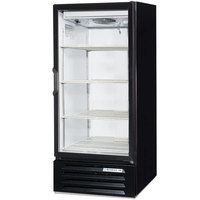 Beverage-Air LV10HC-1-B-18 Lumavue 24 inch Black Refrigerated Glass Door Merchandiser with LED Lighting - Left Hinged Door