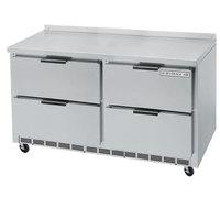 Beverage-Air WTFD48AHC-4-23 48 inch Four Drawer ADA Height Worktop Freezer