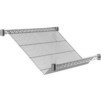 Metro Super Erecta 1836DNC 18 inch x 36 inch Merchandiser / Dispenser Slanted Shelf