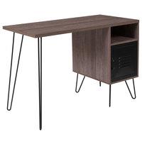 Flash Furniture NAN-JN-21735T-GG Woodridge Rustic Wood Desk - 43 1/4 inch x 21 1/2 inch x 30 inch