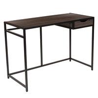 Flash Furniture NAN-JN-21706T-GG Homewood Driftwood Desk - 42 inch x 19 3/4 inch x 29 1/2 inch