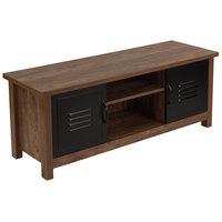 Flash Furniture NAN-JN-21736TR-GG 2 Shelf Oak Woodgrain Laminate Bench - 47 inch x 16 inch x 18 1/2 inch