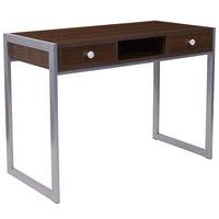 Flash Furniture NAN-NJ-HD10165-GG Bradley Espresso Desk - 41 1/2 inch x 19 3/4 inch x 30 inch