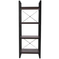Flash Furniture NAN-JH-1734-GG 3 Shelf Wood with Black Frame Laminate Bookcase - 23 1/2 inch x 15 3/4 inch x 62 inch