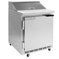 Beverage-Air SPE27HC-24 Elite Series 27 inch 1 Door Refrigerated Sandwich Prep Table - Left Hinged Door