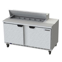 Beverage-Air SPE60HC-12-23 Elite Series 60 inch 2 Door ADA Height Refrigerated Sandwich Prep Table