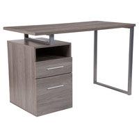 Flash Furniture NAN-JN-2634-GG Harwood Light Ash Wood Desk - 47 inch x 23 1/2 inch x 30 1/2 inch