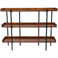 Flash Furniture JN-2542B3-GG Mayfair Rustic Woodgrain Shelving Unit - 47 1/4 inch x 13 inch x 35 inch