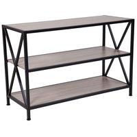 Flash Furniture NAN-JH-1784-GG 2 Shelf Wood with Metal Frame Laminate Bookcase - 39 1/4 inch x 15 3/4 inch x 26 inch