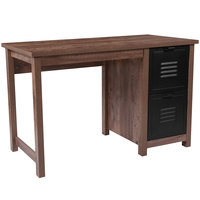 Flash Furniture NAN-JN-21736T-GG New Lancaster Oak Wood Desk - 47 1/4 inch x 23 1/2 inch x 30 inch