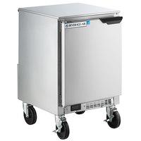 Beverage-Air UCR20HC-24 20 inch Shallow Depth Low Profile Undercounter Refrigerator - Left Hinged Door