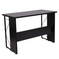 Flash Furniture NAN-JN21718-GG Summit Black Desk - 43 inch x 21 1/2 inch x 29 1/2 inch