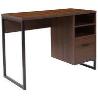 Flash Furniture NAN-NJ-HD10168-GG Northbrook Rustic Coffee Woodgrain Desk - 41 1/4 inch x 19 1/2 inch x 29 1/2 inch