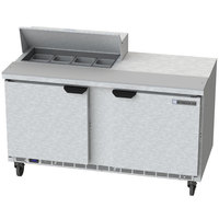 Beverage-Air SPE60HC-08-23 Elite Series 60 inch 2 Door ADA Height Refrigerated Sandwich Prep Table