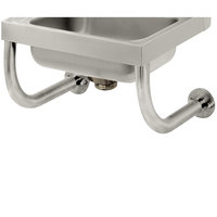 Advance Tabco 7-PS-24B Tubular Wall Supports for 10 inch x 14 inch Hand Sinks with Deck Mounted Faucet