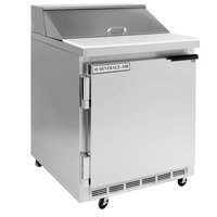 Beverage-Air SPE27HC-C-B-24 Elite Series 27 inch 1 Door Refrigerated Sandwich Prep Table - Left Hinged Door