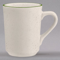 Homer Laughlin 1301901 Sand Dunes 8.25 oz. Green Speckled China Denver Mug - 36/Case
