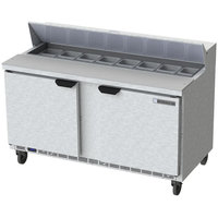 Beverage-Air SPE60HC-16-23 60 inch 2 Door ADA Height Refrigerated Sandwich Prep Table