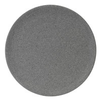 Elite Global Solutions RT12R-GS Tenaya 12 inch Granite Stone Round Melamine Plate - 6/Case