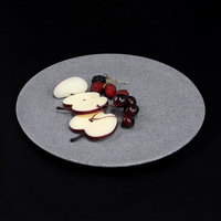 Elite Global Solutions RT12R-GS Tenaya 12 inch Granite Stone Round Melamine Plate - 6/Case