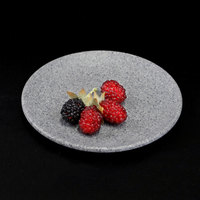 Elite Global Solutions RT6R-GS Tenaya 6 inch Granite Stone Round Melamine Plate - 6/Case
