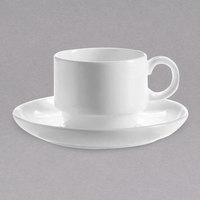 Chef & Sommelier FN038 Infinity 8.5 oz. White Bone China Coffee Cup by Arc Cardinal - 24/Case