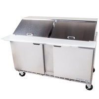 Beverage-Air SPE60HC-24M-23 60 inch 2 Door Mega Top ADA Height Refrigerated Sandwich Prep Table
