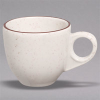 Homer Laughlin 108427 Sand Dunes 3.5 oz. Brown Speckled China A.D. Cup - 36/Case