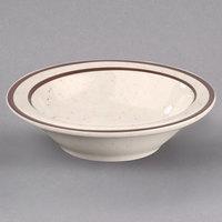 Homer Laughlin 165427 Sand Dunes 3.25 oz. Brown Speckled Narrow Rim China Fruit Bowl - 36/Case
