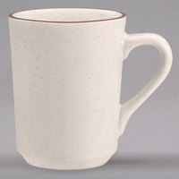 Homer Laughlin 130427 Sand Dunes 8.25 oz. Brown Speckled China Denver Mug - 36/Case