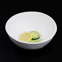 Elite Global Solutions RT83R-OW Tenaya 1.38 Qt. Off White Round Melamine Serving Bowl   - 6/Case